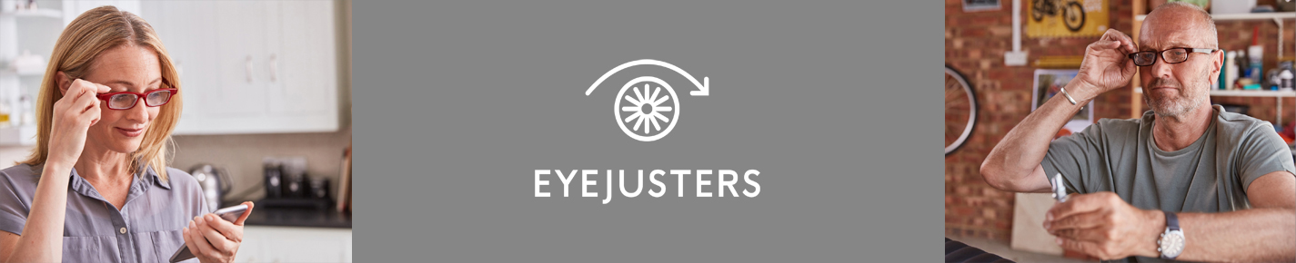 Eyejusters Self Adjusting Eyewear banner