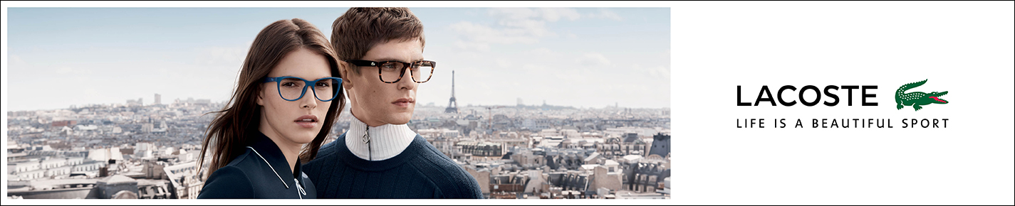 Lacoste Glasses banner