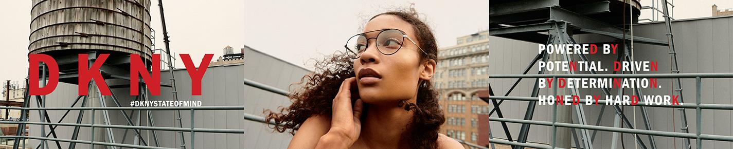 DKNY Glasses banner