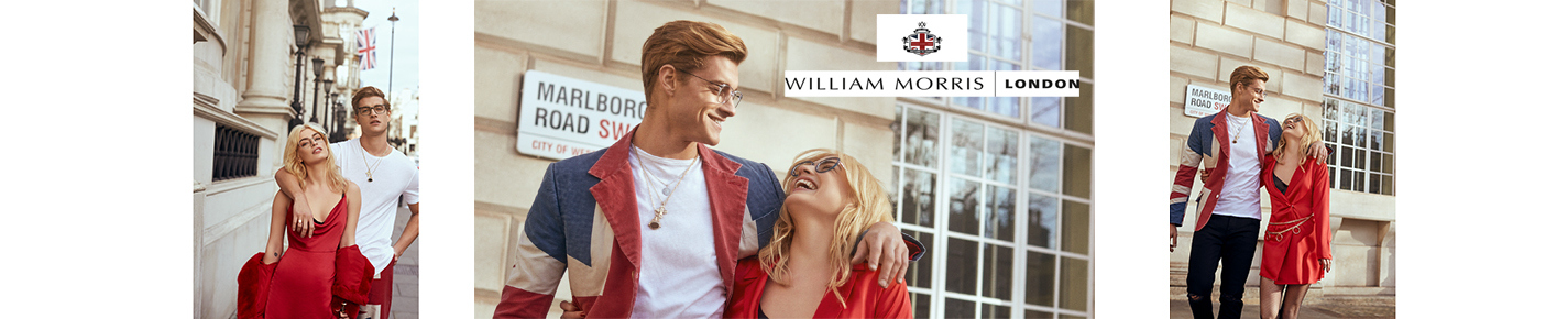 William Morris London Glasses banner