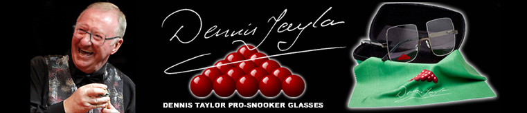 Dennis Taylor Snooker Glasses banner