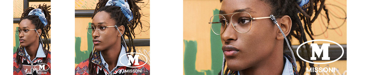 M Missoni Glasses banner