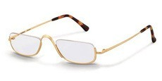 a reading spectacles gold plated