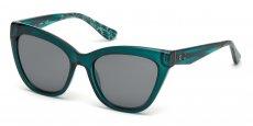 87B shiny turquoise / gradient smoke
