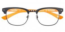 104 matte black / fluro orange