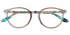 103 Gloss crystal brown / Gloss brown and blue tort