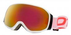 019901 Gloss White (Lens: Light Purple Mirror Revo Red, Strap: White strap with Neon Coral logo)