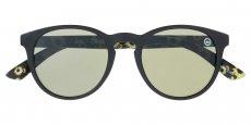 104 Matte solid black front - Sunflower pattern back / Matte solid black out - Sunflower pattern in Vintage green - Cat 3