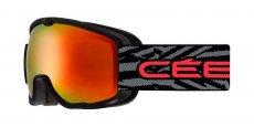 CBG185 Matt Black Red Orange Flash Mirror Cat 2