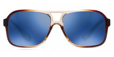 C6 Transparent Brown / Blue Mirror Lenses (TR90 Plastic)