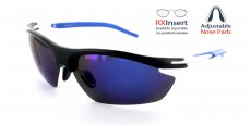 MBK-RBL Matte Black with Blue Lens / Polarized Lens / Adjustable nose position