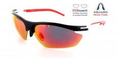 MBK-RRD Matte Black with Red Lens / Polarized Lens / Adjustable nose position