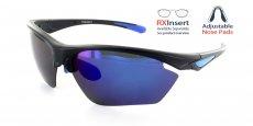 MB-RBL Matte Black with Blue Lens / Polarized Lens / Adjustable nose position