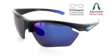 MB-RBL Matte Black with Blue Lens / Polarized Lens / Adjustable nose position