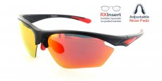 MB-RRD Matte Black with Red Lens / Polarized Lens / Adjustable nose position