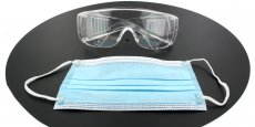 Optical accessories - Safety Glasses, Polycarbonate with Antifog + 20 pack of Surgical Face Masks