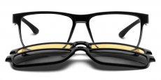 C1 Black - with 2x Polarised Sunglasses Clip-on's