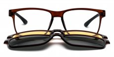 C23 Brown - with 2x Polarised Sunglasses Clip-on's