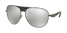 10586G GUNMETAL BLACK LEOPARD/BLACK / silver mirror