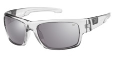 108P Gloss grey crystal / Solid smoke/silver flash mirror - Polarised