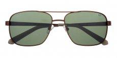 003P Matte brown / Solid green