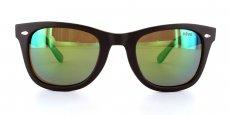 02GN Matte Brown w/ Green Lens