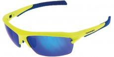 Matt Neon Yellow & Grey/Blue Mirror