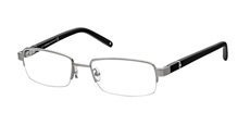 014 Shiny satin light ruthenium, rubber effect black temples