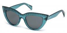 87A shiny turquoise / smoke