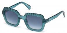 87W shiny turquoise / gradient blue
