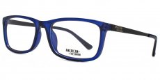 BLU Crystal blue with matt black temples