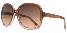 AFS010 Brown to pink grad crystal soft square. Brown to pink and lenses