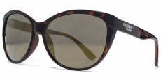 AFS018 Dark brown demi with gold flash lenses