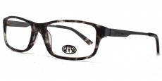 GRY black tortoiseshell with matt grey metal temples