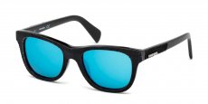 01X shiny black / blu mirror