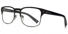 BLK Matt black and matt gunmetal with black on clear temples