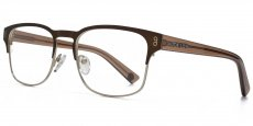 BRN Matt brown and matt gold with crystal brown temples