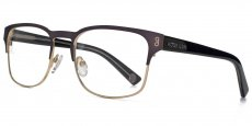 GUN Matt gunmetal and matt gold with black on clear temples