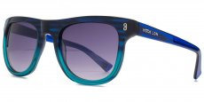 BLU Striped blue and crystal turqoise. Smoke grad lenses
