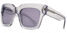 GRY Transparent crystal grey. Solid smoke lenses with a silver flash