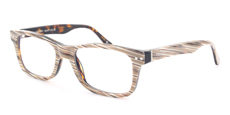 09 Light Brown Marble on Havana Square Wayfarer Style