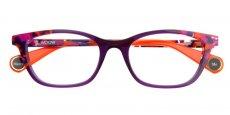 5465 Dark violet / multicolored base