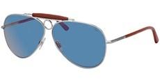 901056 MATTE BRUSCHED SILVER / blue