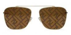 01Q (EB) BROWN GOLD (Nylon Lens, Flat Brow Bar)