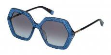0WA2 SHINY GLITTERY BLUE/SMOKE GRADIENT BLUE