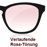 Verlauffarbe Rosatönung