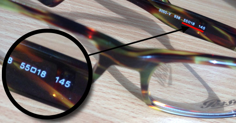 Determine Eyeglass Frame Width : Guide to measuring your glasses frame SelectSpecs.com