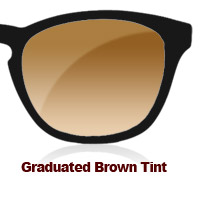 Graduated Brown Tint