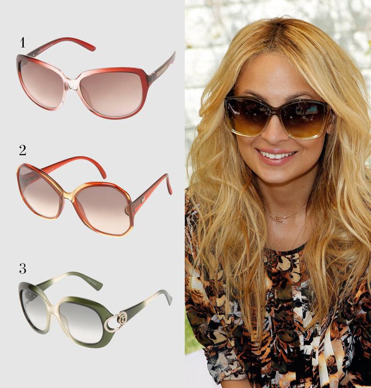 Николь Ричи в защитных солнцезащитных очках