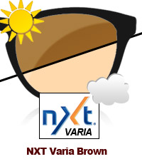 NXT Varia Photochromic Brown Sun Lens